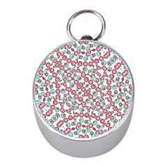 Multicolor Graphic Pattern Mini Silver Compasses