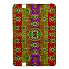 Rainbow Flowers In Heavy Metal And Paradise Namaste Style Kindle Fire Hd 8 9