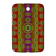 Rainbow Flowers In Heavy Metal And Paradise Namaste Style Samsung Galaxy Note 8 0 N5100 Hardshell Case