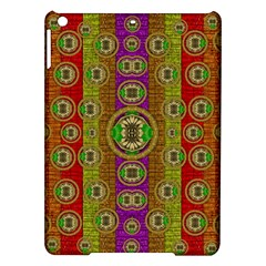 Rainbow Flowers In Heavy Metal And Paradise Namaste Style Ipad Air Hardshell Cases