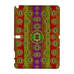 Rainbow Flowers In Heavy Metal And Paradise Namaste Style Galaxy Note 1