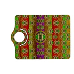 Rainbow Flowers In Heavy Metal And Paradise Namaste Style Kindle Fire Hd (2013) Flip 360 Case