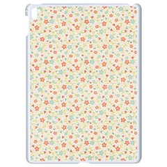 Colorful Pink Floral Cute Pattern Apple Ipad Pro 9 7   White Seamless Case