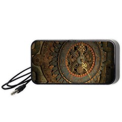 Steampunk, Awesoeme Clock, Rusty Metal Portable Speaker (black)
