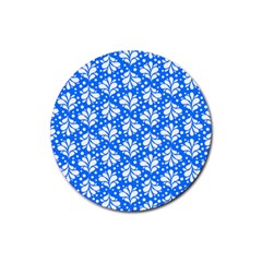 Water Drops Pattern Rubber Round Coaster (4 Pack)