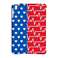 Usa Flag Apple Ipad Mini Hardshell Case (compatible With Smart Cover)