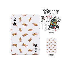 Crabs Photo Collage Pattern Design Playing Cards 54 (mini)