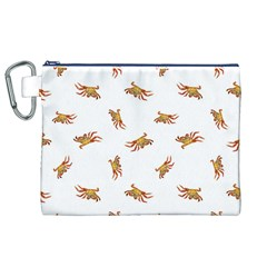 Crabs Photo Collage Pattern Design Canvas Cosmetic Bag (xl)