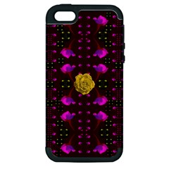 Roses In The Air For Happy Feelings Apple Iphone 5 Hardshell Case (pc+silicone)