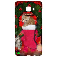 Christmas, Funny Kitten With Gifts Samsung C9 Pro Hardshell Case