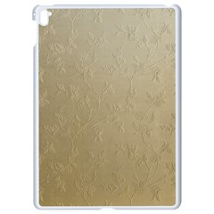 Gold Floral Royal Pattern  Apple Ipad Pro 9 7   White Seamless Case