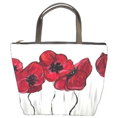 Main Street Poppies Hr Aceo Bucket Bags