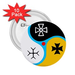 Assianism Symbol 2 25  Buttons (10 Pack)