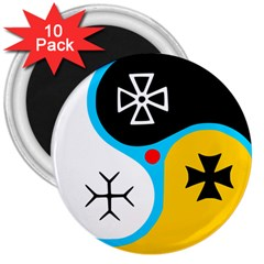 Assianism Symbol 3  Magnets (10 Pack)