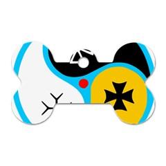 Assianism Symbol Dog Tag Bone (one Side)