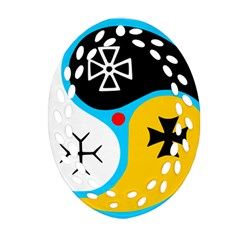 Assianism Symbol Oval Filigree Ornament (two Sides)