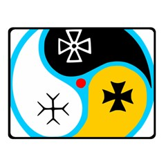 Assianism Symbol Double Sided Fleece Blanket (small)