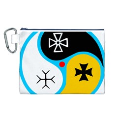 Assianism Symbol Canvas Cosmetic Bag (l)