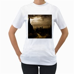 Borobudur Temple Indonesia Women s T Shirt (white) (two Sided)