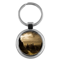 Borobudur Temple Indonesia Key Chains (round)
