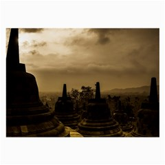Borobudur Temple Indonesia Large Glasses Cloth (2 Side)