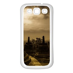 Borobudur Temple Indonesia Samsung Galaxy S3 Back Case (white)