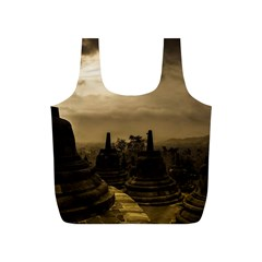 Borobudur Temple Indonesia Full Print Recycle Bags (s)