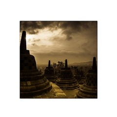 Borobudur Temple Indonesia Satin Bandana Scarf