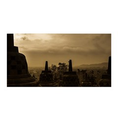 Borobudur Temple Indonesia Satin Wrap