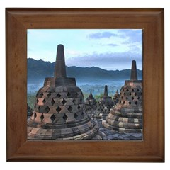 Borobudur Temple  Morning Serenade Framed Tiles
