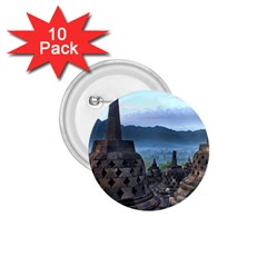 Borobudur Temple  Morning Serenade 1 75  Buttons (10 Pack)