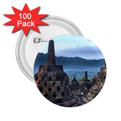 Borobudur Temple  Morning Serenade 2 25  Buttons (100 Pack)