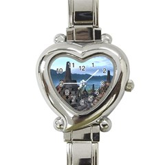 Borobudur Temple  Morning Serenade Heart Italian Charm Watch