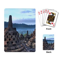 Borobudur Temple  Morning Serenade Playing Card