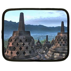 Borobudur Temple  Morning Serenade Netbook Case (large)