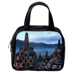 Borobudur Temple  Morning Serenade Classic Handbags (one Side)