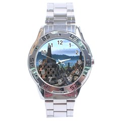 Borobudur Temple  Morning Serenade Stainless Steel Analogue Watch