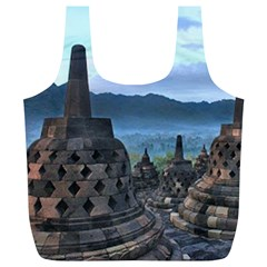 Borobudur Temple  Morning Serenade Full Print Recycle Bags (l)