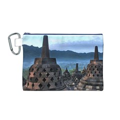 Borobudur Temple  Morning Serenade Canvas Cosmetic Bag (m)
