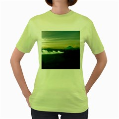 Bromo Caldera De Tenegger  Indonesia Women s Green T Shirt