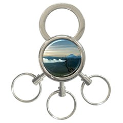 Bromo Caldera De Tenegger  Indonesia 3 Ring Key Chains