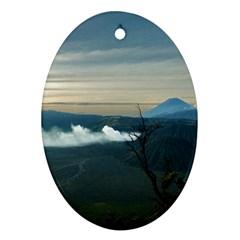 Bromo Caldera De Tenegger  Indonesia Oval Ornament (two Sides)