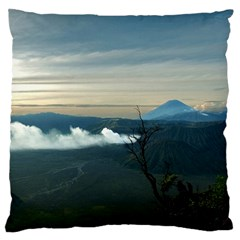 Bromo Caldera De Tenegger  Indonesia Large Flano Cushion Case (one Side)