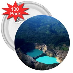 Kelimutu Crater Lakes  Indonesia 3  Buttons (100 Pack)