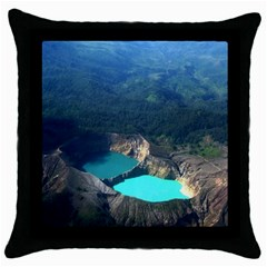 Kelimutu Crater Lakes  Indonesia Throw Pillow Case (black)