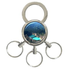Kelimutu Crater Lakes  Indonesia 3 Ring Key Chains