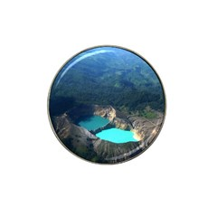 Kelimutu Crater Lakes  Indonesia Hat Clip Ball Marker (4 Pack)