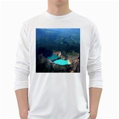 Kelimutu Crater Lakes  Indonesia White Long Sleeve T Shirts