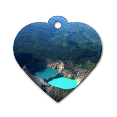 Kelimutu Crater Lakes  Indonesia Dog Tag Heart (two Sides)