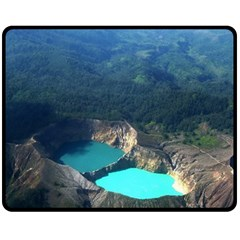 Kelimutu Crater Lakes  Indonesia Fleece Blanket (medium)